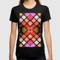 WATERCOLOR Womens Fitted Tee Tri-Black SMALL
