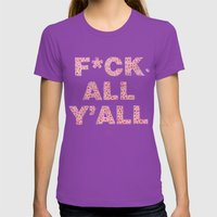Say It Nice Womens Fitted Tee Ultraviolet SMALL