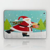 Santa And Presents Laptop & iPad Skin