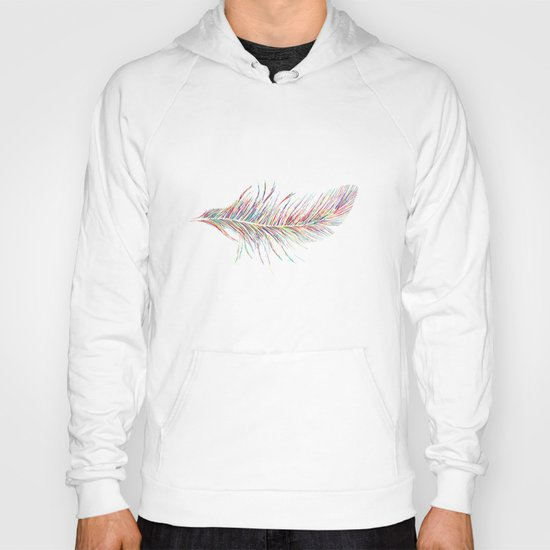Rainbow Feather  Hoody