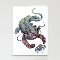 dragon Stationery Cards featuring dragon by luiza kwiatkowska