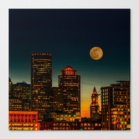 Boston Pink  Moon  Canvas Print