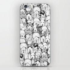 just alpacas black white iPhone & iPod Skin