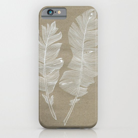 white feathers iPhone & iPod Case