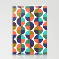 mod circles pattern Stationery Cards