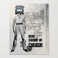 Beau Comme Un Camion Canvas Print