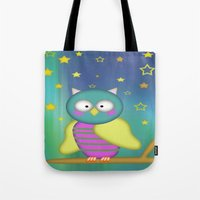 Good Night Little Owl Tote Bag