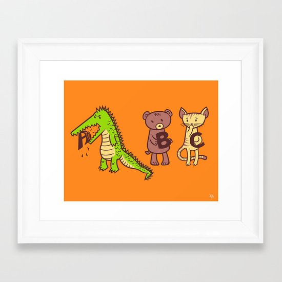 A is for Jerks! Framed Art Print