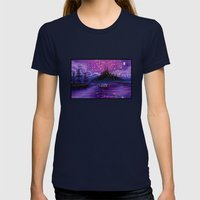 The Lantern Scene Womens Fitted Tee Navy SMALL