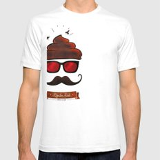 Hipster Hat SMALL White Mens Fitted Tee