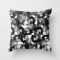 smplmag marble pattern Throw Pillow