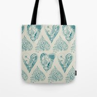 Blue And Beige Zentangle… Tote Bag