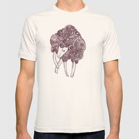 Sheep Mens Fitted Tee Natural SMALL