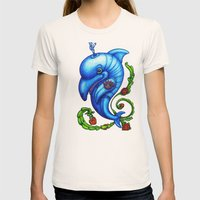 Dolphin Blue Womens Fitted Tee Natural SMALL