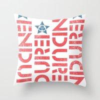 ENDURE STENCIL Throw Pillow