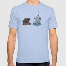 Little Robot  Mens Fitted Tee Athletic Blue SMALL