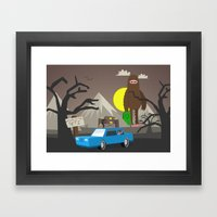Beware of the Yeti Framed Art Print