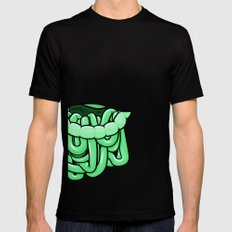 viscera : melon Mens Fitted Tee Black SMALL