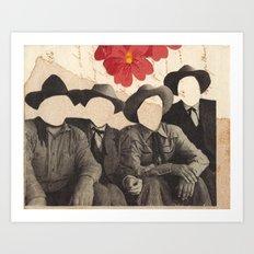 Lonesome Quartet Art Print