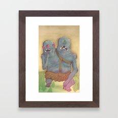 WE'RE EVIL!!! Framed Art Print
