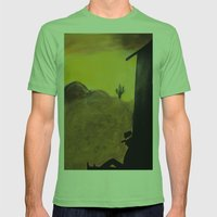 Just An Ol' Cowboy Mens Fitted Tee Grass SMALL