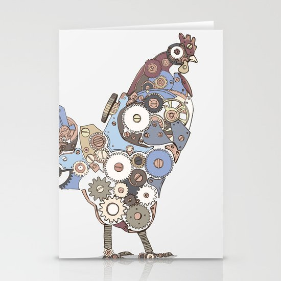 Chicken Alarm Stationery Card