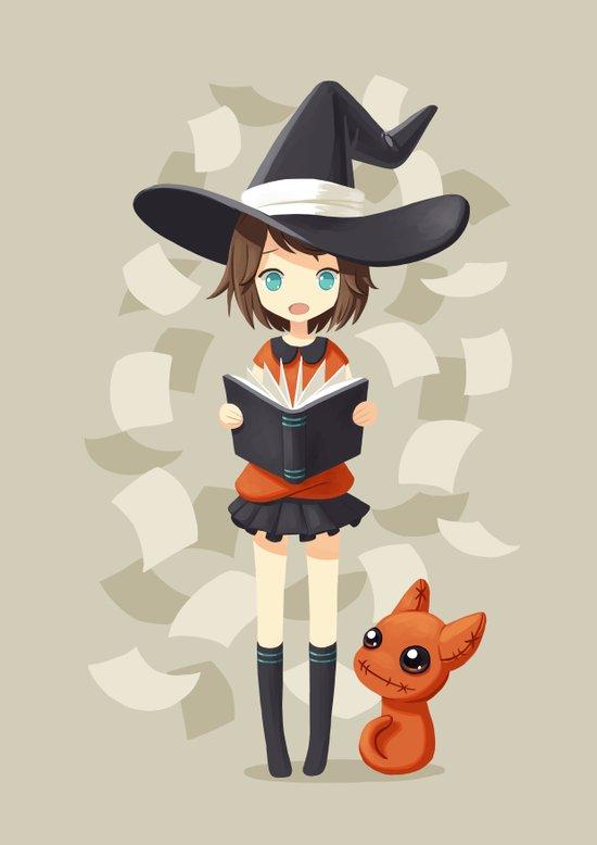 Little Witch 2 Art Print
