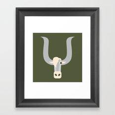 Letter Y // Animal Alphabet // Yak Framed Art Print