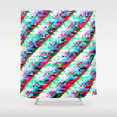 filtered diagonals Shower Curtain