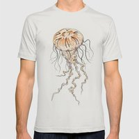 Jellyfish Mens Fitted Tee Silver SMALL