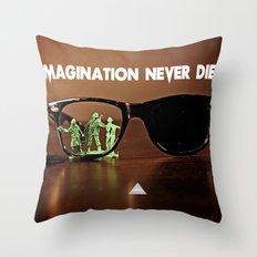 Imagination Never Dies Throw Pillow