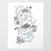 Blue King 3 Art Print
