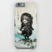 iPhone & iPod Case featuring Hedgehog in the fog by Ginta Spate