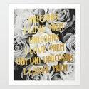 The Unicorn Song Art Print