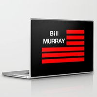 bill murray Laptop & iPad Skins featuring Bill Murray Flag by Spyck