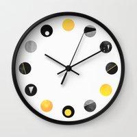 Dots / Yellow & Black Wall Clock