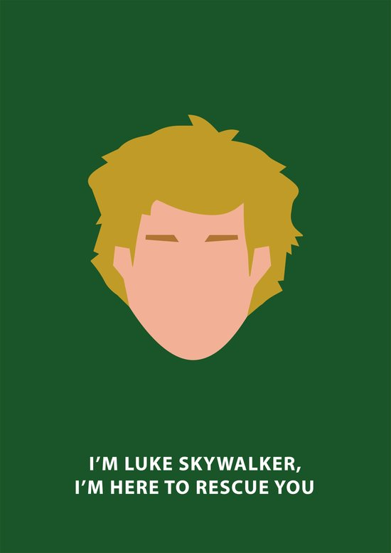 Star Wars Minimalism - Luke Skywalker Art Print