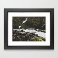 Lower Bridal falls Framed Art Print