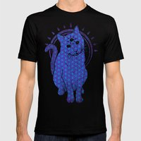 Trippy Cat: 4 Mens Fitted Tee Black SMALL