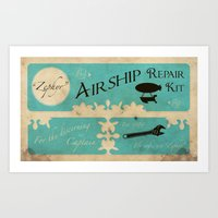 Airship Repair Kit Art Print