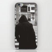 black hood iPhone & iPod Skin