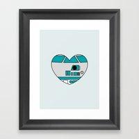 R2D2 Valentine Framed Art Print