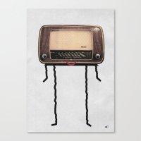 Radio-head Canvas Print