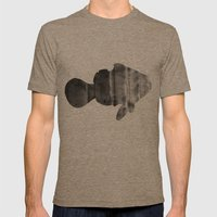 Fish (The Living Things Series) Mens Fitted Tee Tri-Coffee SMALL