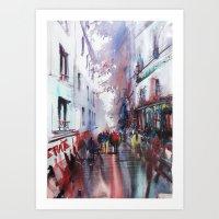 paris Art Prints featuring Paris  by Nicolas Jolly