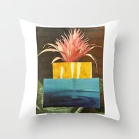Pages 6 (from the plant & mineral medicine book) Throw Pillow
