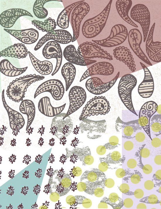 Paisley Collage Art Print