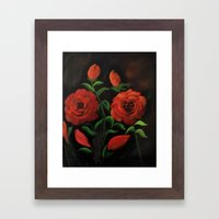 Roses are red my love.. Framed Art Print