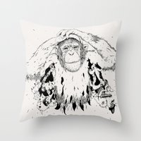In The Shadow Of Man Throw Pillow