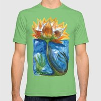 Wild Lotus Mens Fitted Tee Grass SMALL
